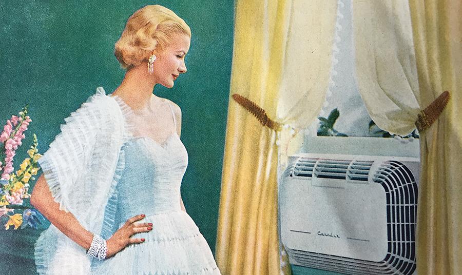 Διαφήμιση των κλιματιστικών Carrier στη δεκαετία του '50