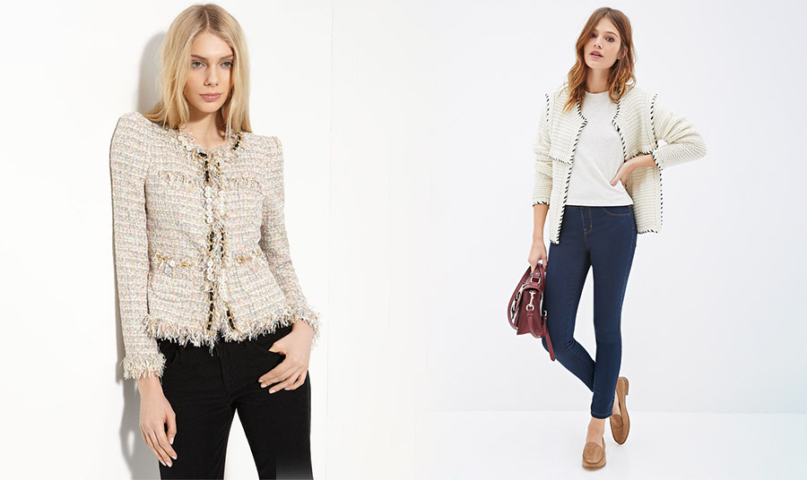 Φορέστε το τζιν στο γραφείο σας με ένα σακάκι τύπου Chanel ακόμη και με τα loafers σας
