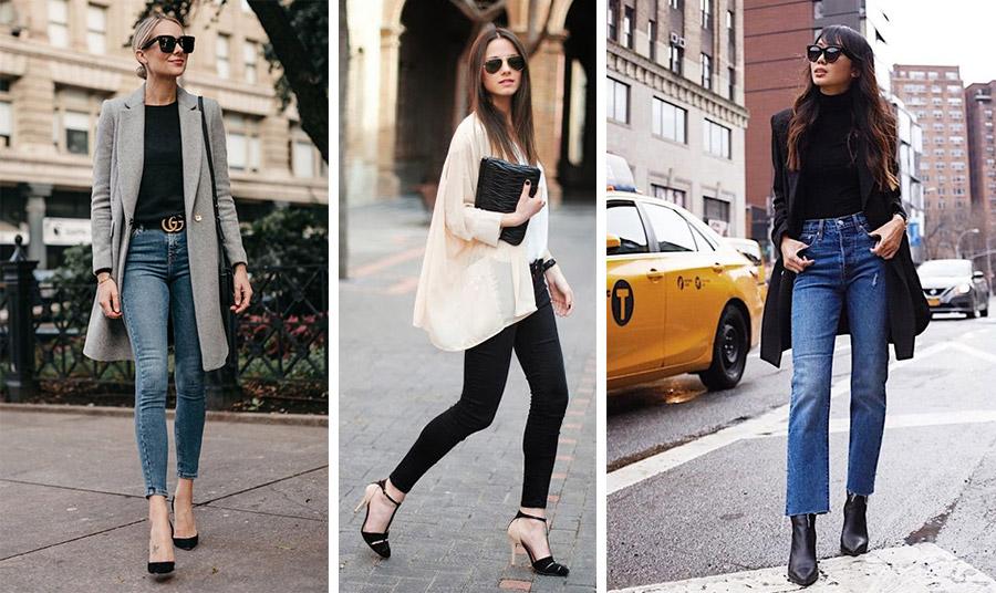 Φορέστε το τζιν σας με ένα μακρύ σακάκι, ένα ιδιαίτερο πουκάμισο ή με κλασικά μαύρα και ψηλά τακούνια!
