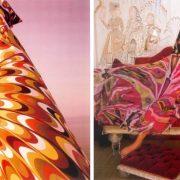 To διάσημο μοντέλο Veruschka με καφτάνι Emilio Pucci το 1964 // Η Simone D?Aillencourt i επίσης με Pucci για τη Vogue, 1967 (φωτό: Henry Clarke)