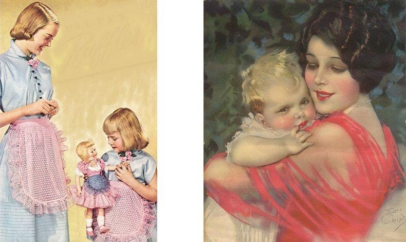 Στις δεκαετίες του 1920 και του 1930, η ζωή ανάμεσα στις μαμάδες και τα παιδιά τους δεν ήταν καθόλου ειδυλλιακή όπως δείχνουν τα πόστερ της εποχής