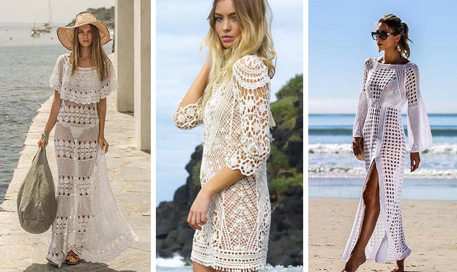 Ένα λευκό πλεκτό φόρεμα είναι μία υπέροχη επιλογή!