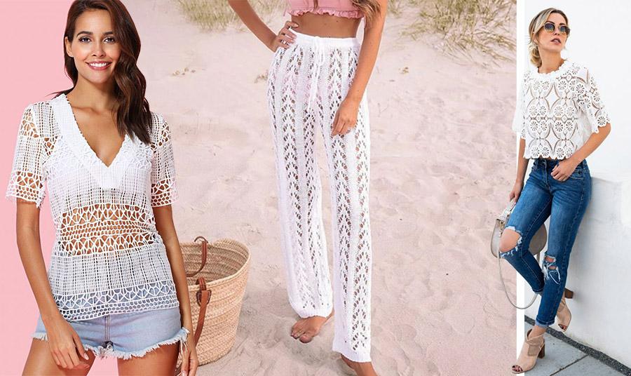 Μία πλεκτή μπλούζα μπορεί να συνδυαστεί τέλεια με ένα τζιν σορτς ή παντελόνι όλες τις ώρες, ενώ ένα πλεκτό παντελόνι με ένα απλό τοπ κάνει τη διαφορά στην παραλία!