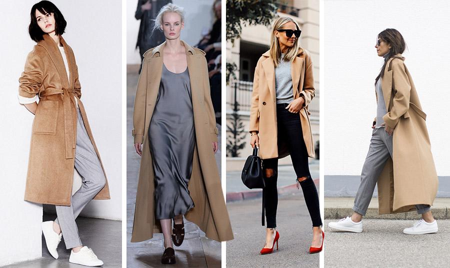 Το γκρι σε ανοιχτή απόχρωση ταιριάζει με το καμηλό είτε πάνω από μία φόρμα για casual εμφανίσεις, ένα πουλόβερ με το τζιν μας ή ακόμη κι ένα μακρύ slip dress!