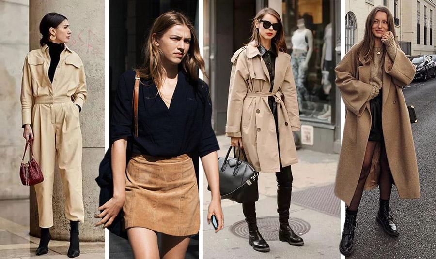Μία καμηλό φόρμα με μαύρο ζιβάγκο, μίνι δερμάτινη με μαύρο πουκάμισο ή πάλι κάρντιγκαν ή παλτό με μαύρα όλα τα υπόλοιπα είναι εξαιρετική… απόφαση!