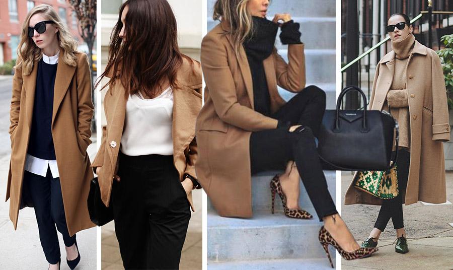 Με λευκό, με μαύρο αλλά και ιδιαίτερα αξεσουάρ όπως λεοπάρ παπούτσια ή τσάντα ή σε έντονα χρώματα, π.χ. σκούρο πράσινο το καμηλό είναι κατάλληλο για όλη μέρα