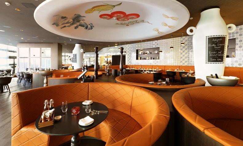 Το εστιατόριο L'Unico με ιταλική κουζίνα της μαμάς και ένα άκρως εντυπωσιακό φωτιστικό να δεσπόζει στον χώρο