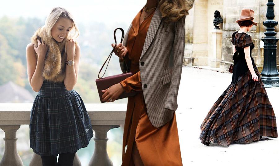 Καρό και για το βράδυ… με ένα γουνάκι πάνω από ένα μίνι φόρεμα, ένα καρό σακάκι πάνω από ένα σατέν φόρεμα ή απλά μία μάξι εκδοχή…