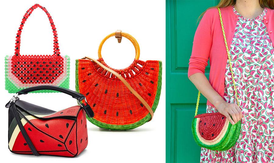 Τσάντα από χάντρες, Susan Alexandra // Ψάθινη vintage τσάντα, Parisian vintage // Δερμάτινη τσάντα από την καλοκαιρινή συλλογή, Loewe