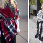 Φορέστε ένα κασκόλ κουβέρτα με ζώνη στη μέση για ένα κομψό και ενδιαφέρον αποτέλεσμα