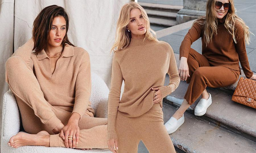 Σε γήινες αποχρώσεις για άνεση όλες τις ώρες // Σετ με παντελόνι και πουλόβερ στο χρώμα της καραμέλας, Marks & Spencer // Συνδυάστε ένα σετ με ίσια μοκασίνια ή αθλητικά και χρυσά κοσμήματα