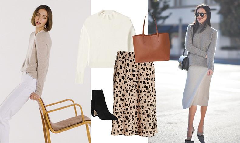 Φορέστε ένα πουλόβερ από κασμίρ από το πρωί στις επαγγελματικές σας υποχρεώσεις π.χ. με ένα παντελόνι, μία λεοπάρ φούστα ή μία μονόχρωμη και τα ανάλογα αξεσουάρ για να είστε κομψή και περιποιημένη