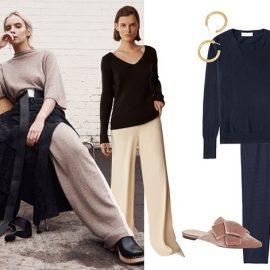Με ένα φαρδύ παντελόνι, ένα ζευγάρι statement σκουλαρίκια, δερμάτινα mules, ακόμα και το πιο απλό πουλόβερ με τη στρογγυλή λαιμόκοψη θα δείξει απλά υπέροχο