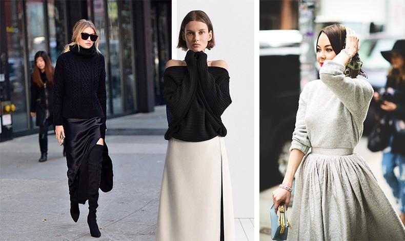 Το κασμιρένιο πουλόβερ ή μπλούζα είναι τέλειο και για πιο βραδινές εμφανίσεις, όπως σε total black ή έξωμο με μία κρεμ μακριά φούστα αλλά και σε μεταλλικές αποχρώσεις…