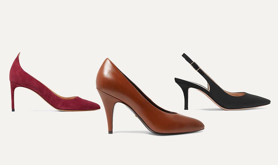 Σουέντ και ματ δέρματα, καφέ και ουδέτερα χρώματα, λεπτά τακούνια και μυτερά παπούτσια σε σχήμα V κάνουν τα πόδια να δείχνουν πιο λεπτά και πιο μακριά