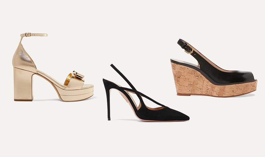Αν έχετε γεμάτο κου ντε πιε αποφύγετε τα τετράγωνα τακούνια και τις τετραγωνισμένες φόρμες στα παπούτσια. Προτιμήστε πλατφόρμες και τα κομψά slingback