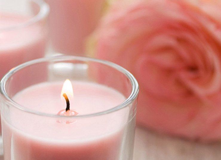 DIY: Αρωματικό κερί από τριαντάφυλλο και γεράνι