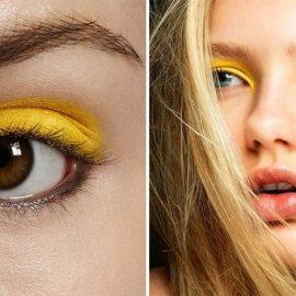 Οι φωτεινές κίτρινες αποχρώσεις δίνουν ένταση στο χρώμα των ματιών