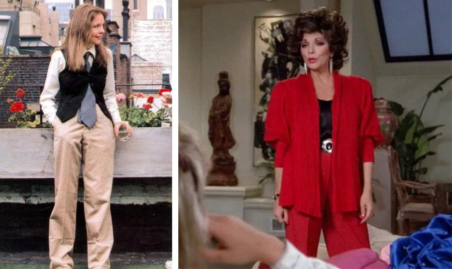 H Νταϊάν Κήτον λάτρης του στιλ Ralph Lauren // Το power suit ή αλλιώς το κοστούμι της δυναμικής γυναίκας από την Τζόαν Κόλινς