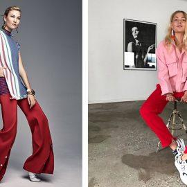 Κόκκινο με ανατρεπτικούς χρωματικούς συνδυασμούς // Συνδυασμένο με ροζ και τα sneakers δημιουργεί μία casual εμφάνιση που δεν περνά απαρατήρητη