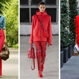 Φορέστε το κόκκινο παντελόνι σας με τζίν // Σε athleisure ύφος // Κόκκινο κοστούμι με ένα T-shirt σε γκρι χρώμα για όλες τις ώρες