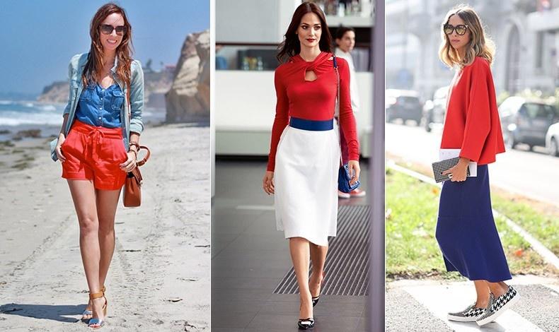 Το μπλε και το λευκό ταιριάζουν τέλεια με το κόκκινο, απόλυτα διαχρονική επιλογή