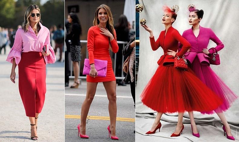 Αναπάντεχο; Σίγουρα ναι! Όμως, οι λάτρεις της μόδας, λατρεύουν τον συνδυασμό κόκκινου και φούξια
