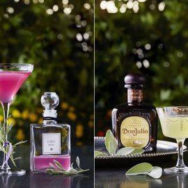 Το Purple Rain, με βότκα Ketel One και λεβάντα // Το Sage Margarita, με βάση την premium τεκίλα Don Julio Añejo και φασκόμηλο
