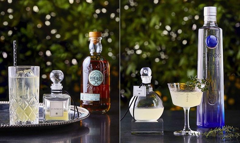 Το St. Patrick?s, όπου το blended ουίσκι Roe & Co δένει μοναδικά με το χαμομήλι // Το Elixir, με βότκα Ciroc και θυμάρι
