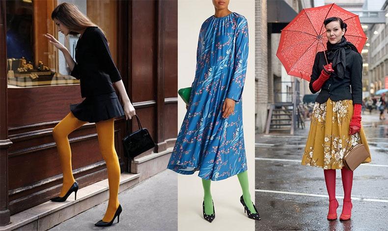 Ίσως η πιο εύκολη τάση για το φθινόπωρο του 2018 είναι να φορέσετε κάλτσες και καλσόν σε ζωηρά και τολμηρά χρώματα σε όλες σχεδόν τις εμφανίσεις σας