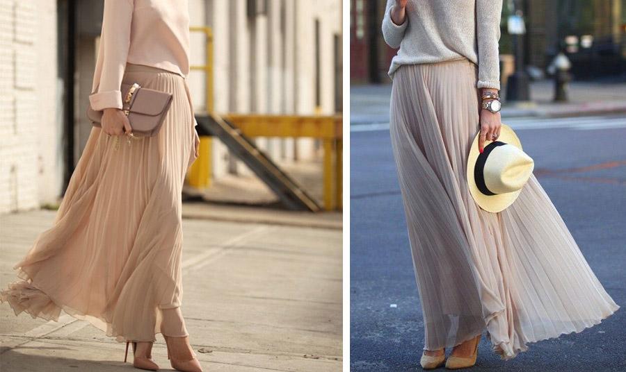 Οι μάξι φούστες και τα ψηλά τακούνια προσθέτουν πόντους!