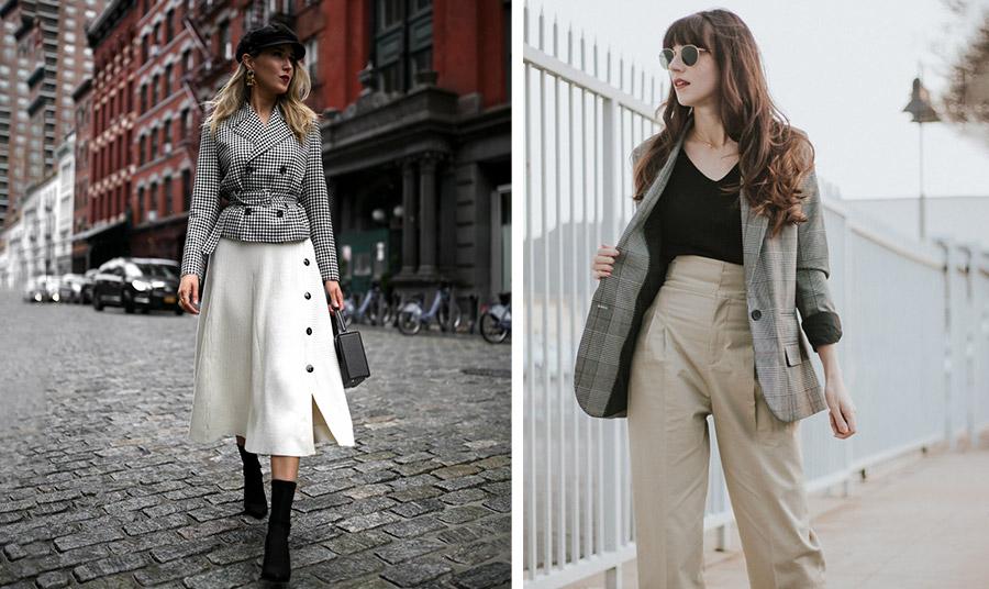 Ένα πιο φαρδύ σακάκι συνδυασμένο με ένα ψηλόμεσο παντελόνι σε ίσια γραμμή ή ένα μεσάτο σακάκι με μία μίντι φούστα δημιουργεί πιο ισορροπημένες αναλογίες