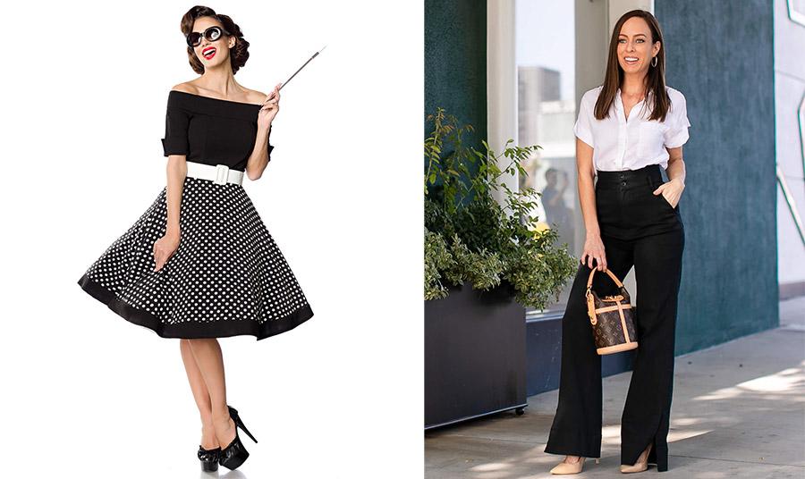 Για να κάνετε πιο κομψή τη μέση σας, επιλέξτε ένα παντελόνι ή φούστα με τονισμένη μέση