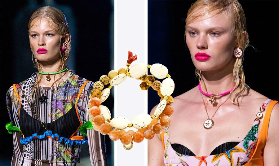 Εκτός από το χρώμα, τα μοτίβα για την άνοιξη-καλοκαίρι 2021 έχουν έμπνευση από τη θάλασσα και τις ακρογιαλιές με πρώτο και καλύτερο τον οίκο Versace // Βραχιόλι με θαλασσινά μοτίβα, Panacea