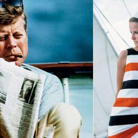 Ο Πρόεδρος των ΗΠΑ Τζον Κέννεντι σε στιγμές χαλάρωσης με την εφημερίδα και το πούρο του, Photo © Corbis // Η ηθοποιός και συγγραφέας σε ιστιοπλοϊκό με άψογο στιλ, Photo © Cond Nast Archive/Corbis