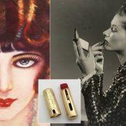 Τη δεκαετία του 1920 τα χείλη στο χρώμα του μούρου και με τοξωτό σχήμα ήταν η μόδα. Σύμβολο της εποχής, η ηθοποιός Clara Bow // Στη δεκαετία του ?30, η αύξηση πωλήσεων του κραγιόν ήταν θεαματική!