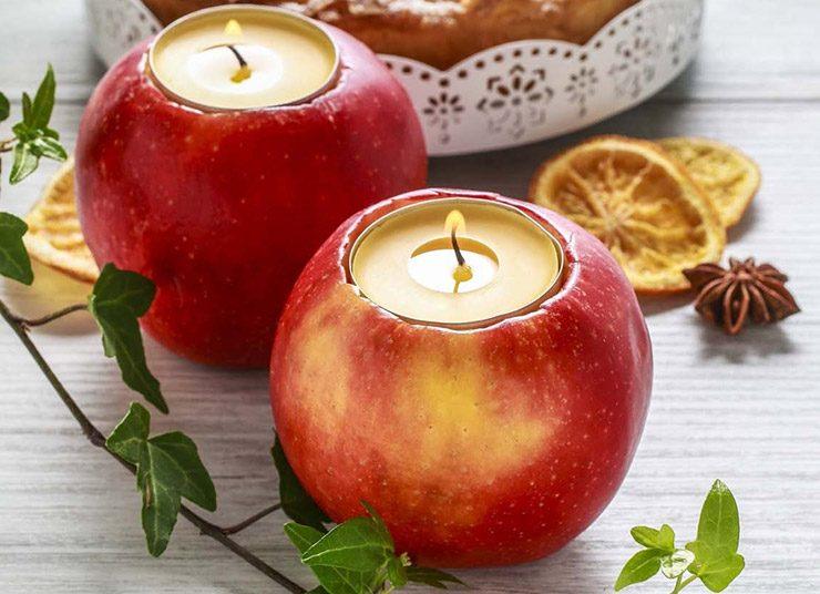 Διακόσμηση: Φτιάξτε κηροπήγια από μήλα και εντυπωσιάστε!