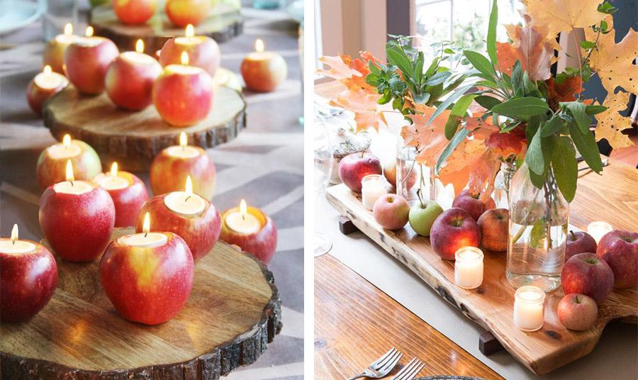 Ιδέες για διακόσμηση με το κηροπήγιο από μήλο