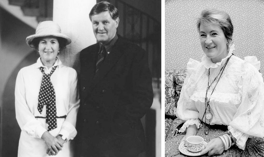 Το ζευγάρι Laura και Bernard Ashley ξεκίνησε την εταιρεία το 1966 // Η σχεδιάστρια σε χαρακτηριστική φωτογραφία της στις αρχές του '60