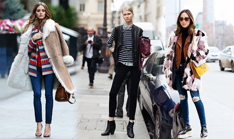 Χρησιμοποιώντας το τζιν ως «κομμάτι βάσης», φορέστε το με ζιβάγκο, σακάκι και παλτό στους ώμους // Συνδυάστε ένα μαύρο τζιν με ριγέ πουκάμισο και λεπτό πουλόβερ και ένα αμάνικο σακάκι στην γκάμα του μαύρου- άσπρου // Ή πάλι με ζιβάγκο, σουέντ τζάκετ και γούνα