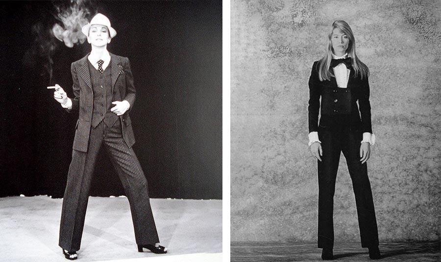 Στιλ από το 1960 // Η Φρανσουάζ Αρντί με smoking Yves Saint Laurent από τη δεκαετία του '70