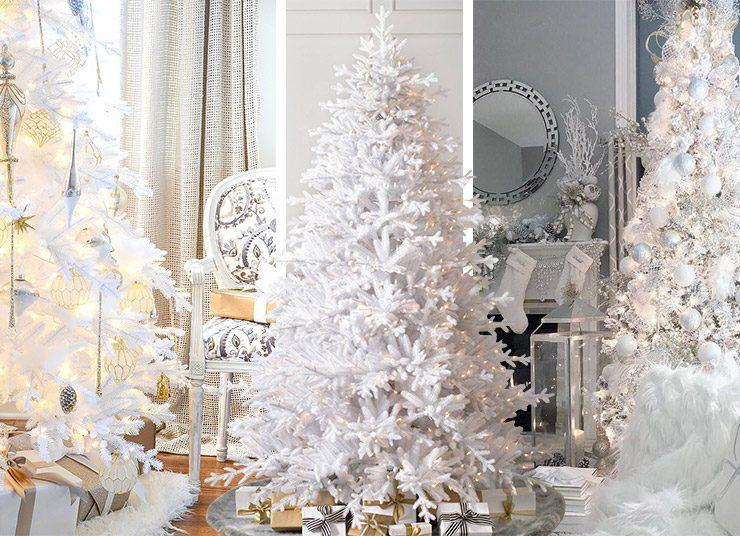 Τάση: Τα χριστουγεννιάτικα δέντρα είναι λευκά!