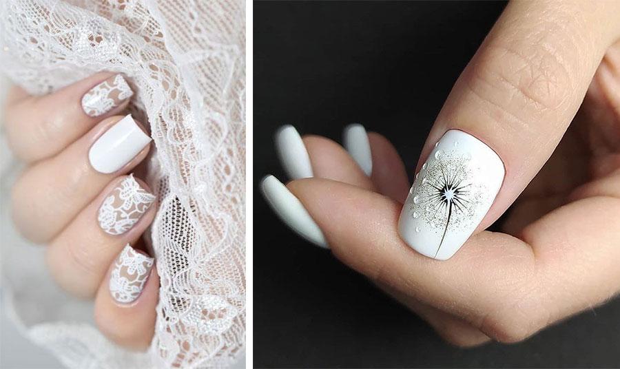 Οι ιδέες για το «στόλισμα» των νυχιών είναι πολλές. Το λευκό σαν δαντέλα ή με στρας, περλίτσες κ.λπ. το κάνει πιο παιχνιδιάρικο