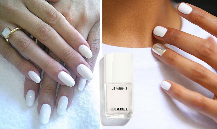 Υπάρχουν πολλές υφές και στα βερνίκια, ματ ή πιο γυαλιστερά. Το λευκό βερνίκι Chanel είναι μία από τις καλύτερες επιλογές… διαχρονικά!