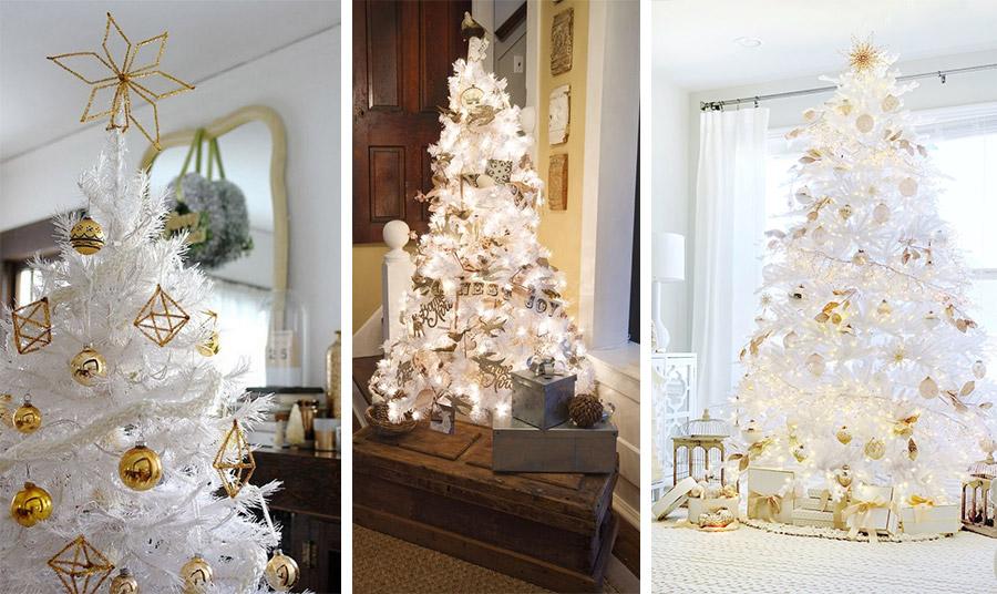 Χρυσές μπάλες και στολίδια και ένα χρυσό φωτεινό αστέρι είναι το μόνο που χρειάζεστε // Vintage χρυσαφιά στολίδια σε ένα πιο μικρού μεγέθους δέντρο και πολλά φώτα στολίζει το σπίτι // Συνδυασμός από χρυσά και λευκά στολίδια σε ένα δέντρο που εκπέμπει λάμψη και απαράμιλλο στιλ