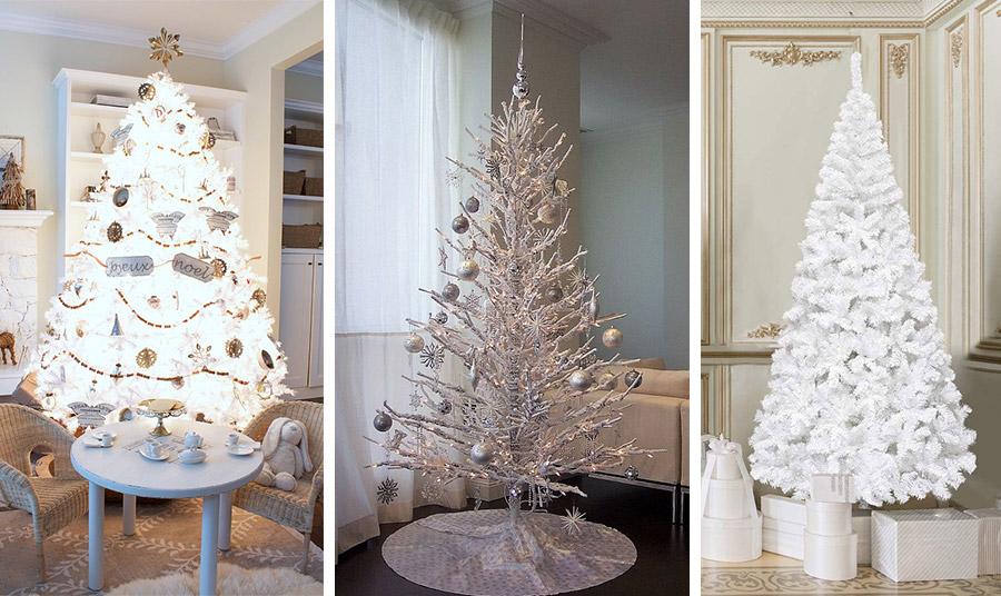 Ένα κατάλευκο δέντρο με σούπερ φωτισμό και vintage χρυσά στολίδια // Η μίνιμαλ εκδοχή με λευκά κλαριά και ασημένιες μπάλες // Στιλ αξεπέραστα αριστοκρατικό με ένα λευκό δέντρο και λευκά κουτιά κυριαρχεί στην απλότητά του!
