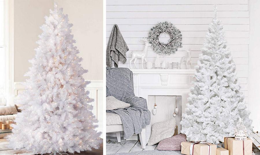 Ένα μεγάλο λευκό δέντρο με λευκά φωτάκια κυριαρχεί στον χώρο με… αριστοκρατικό τρόπο! // Σκανδιναβικό στιλ, με ένα απλό λευκό δέντρο, γήινους και ουδέτερους τόνους σε όλη τη διακόσμηση και μάλλινα ριχτάρια και μαξιλάρια
