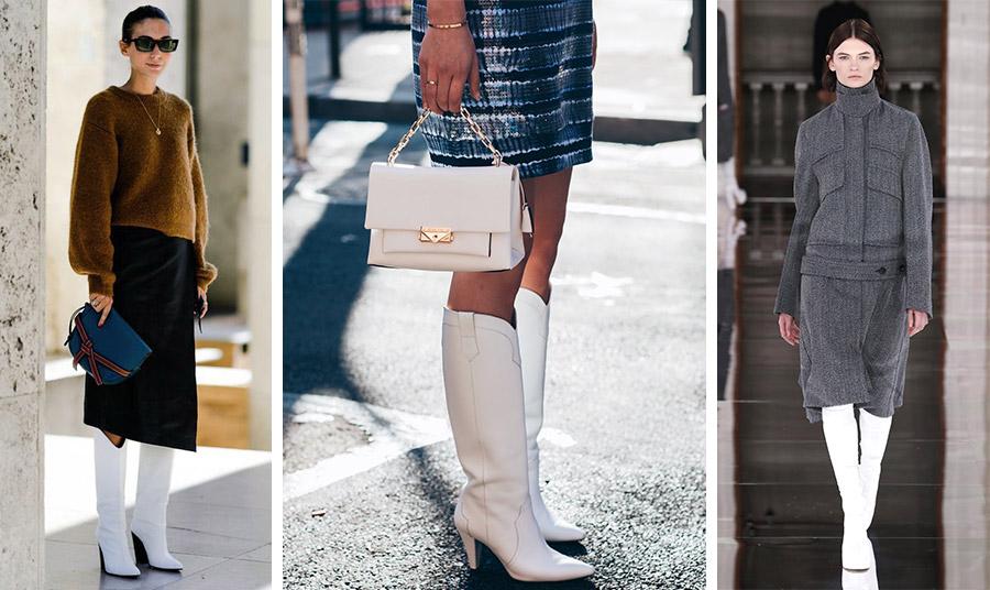 Για κομψή εμφάνιση, για βραδινή εμφάνιση ή για μίνιμαλ εμφάνιση, οι λευκές μπότες… οδηγούν τα βήματά σας