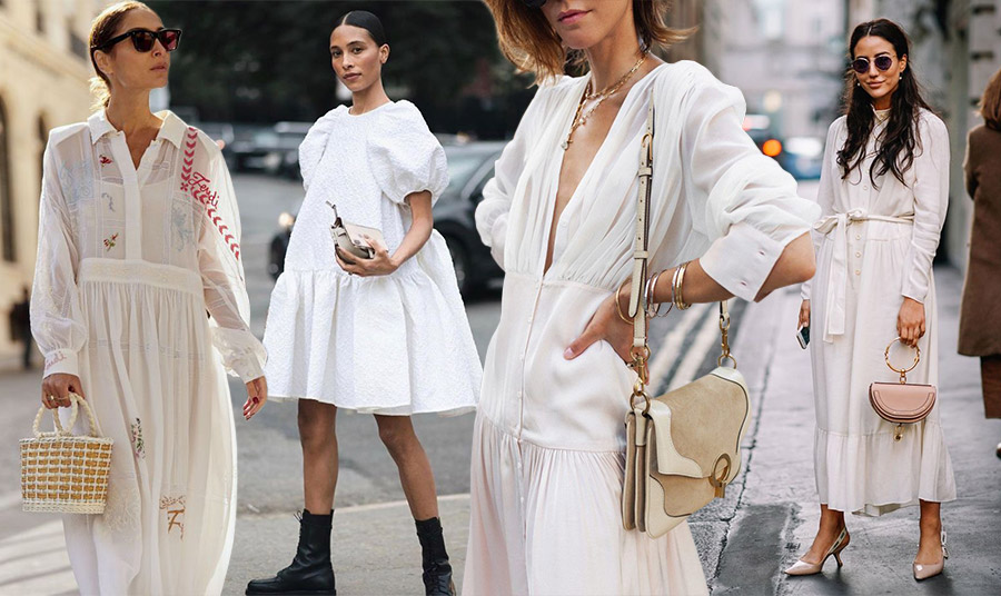 Για κάθε ώρα, κάθε ηλικία και σωματότυπο υπάρχει το κατάλληλο λευκό φόρεμα! Με ρομαντικό στιλ και διαφάνειες, μίνι με φουσκωτά μανίκια και μποτάκια, υπέρκομψο μεταξωτό ή μακρύ με κομψά αξεσουάρ, επιλέξτε τη δική σας εκδοχή