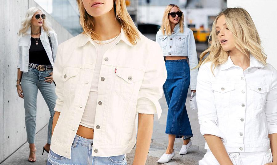 Ένα λευκό τζιν σακάκι ταιριάζει θαυμάσια με το κλασικό σας τζιν παντελόνι ή φούστα για ένα κομψό casual look